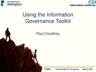Using the Information  Governance Toolkit