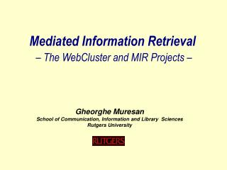 Mediated Information Retrieval – The WebCluster and MIR Projects –