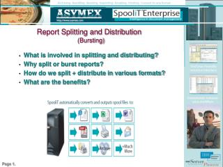 Report Splitting and Distribution