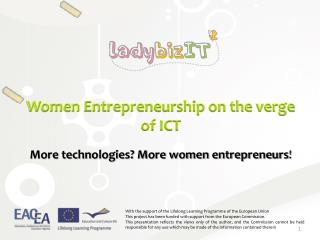 Women Entrepreneurship on the verge of ICT