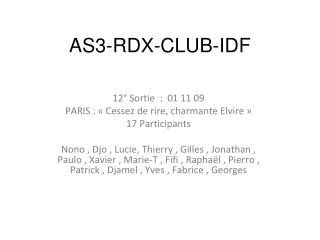 AS3-RDX-CLUB-IDF