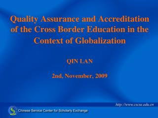 1 、 Foundation of CSCSE Accreditation of        Foreign Academic Qualifications and       Degrees