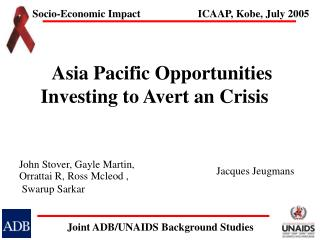 Asia Pacific Opportunities Investing to Avert an Crisis