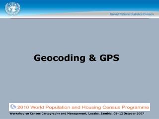 Geocoding & GPS