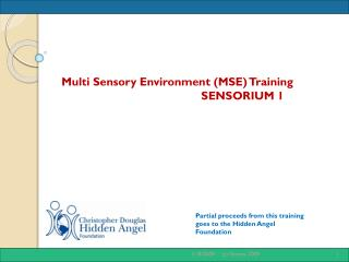 Partial proceeds from this training goes to the Hidden Angel Foundation