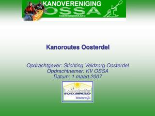 Kanoroutes Oosterdel