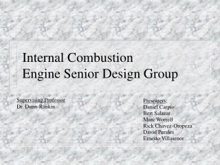 Internal Combustion Engine Senior Design Group