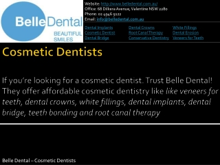 Belle Dental Cosmetic Dentist