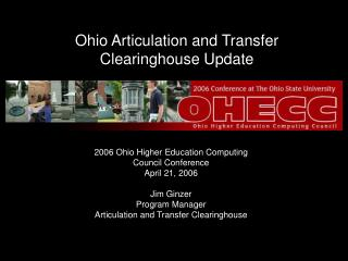 Ohio Articulation and Transfer Clearinghouse Update