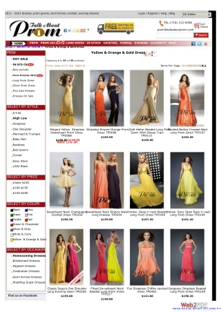 Shine Comes from Yellow Prom Dresses