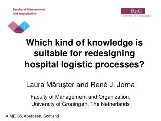 Which kind of knowledge is suitable for redesigning hospital logistic processes?