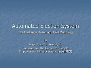 Automated Election System