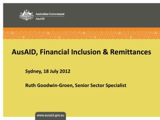 AusAID, Financial Inclusion & Remittances