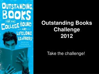Outstanding Books Challenge 2012