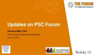 Updates on PSC Forum