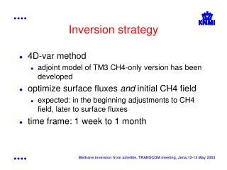 Inversion strategy
