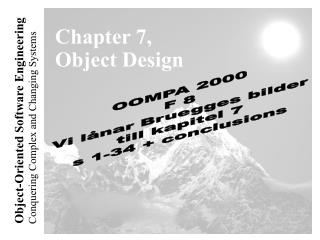 Chapter 7, Object Design