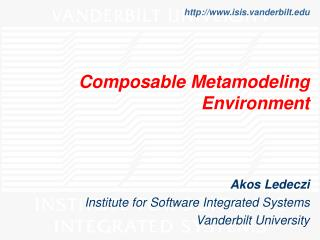 Composable Metamodeling Environment