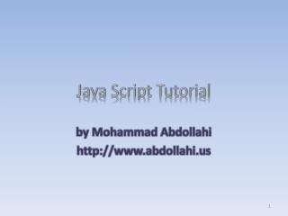 Java Script Tutorial