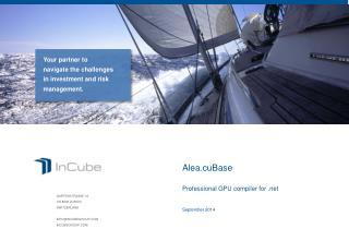 GARTENSTRASSE 19 CH-8002 ZURICH SWITZERLAND INFO@INCUBEGROUP.COM INCUBEGROUP.COM