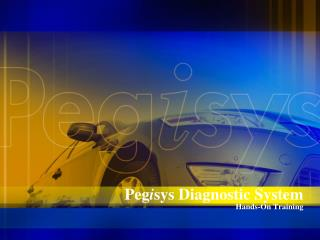 Peg i sys Diagnostic System Hands-On Training