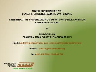MANUFACTURERS  ASSOCIATION OF NIGERIA