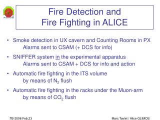 Fire Detection and Fire Fighting in ALICE