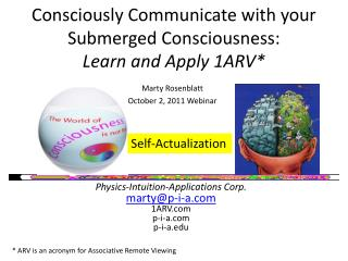 Consciously Communicate with your Submerged Consciousness:  Learn and Apply 1ARV*