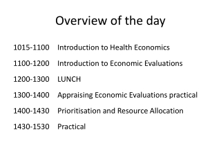 Health Economics - Introduction
