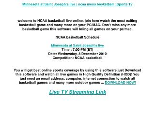 Minnesota at Saint Joseph's live | ncaa mens basketball | Sp