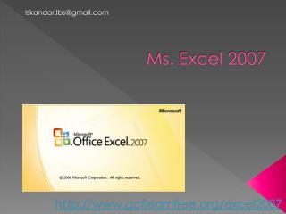 Ms. Excel 2007