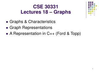 CSE 30331 Lectures 18 – Graphs