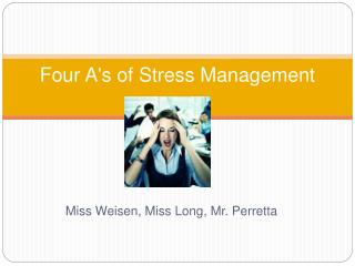 Four A's of Stress Management