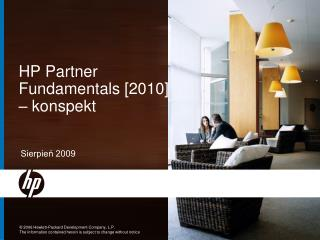 HP Partner Fundamentals [2010] – konspekt