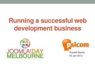 Running a successful web development business