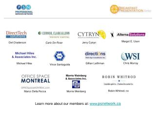 Learn more about our members at:   psnetwork