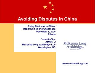 Avoiding Disputes in China
