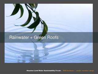 Rainwater + Green Roofs
