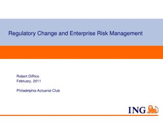 Regulatory Change and Enterprise Risk Management