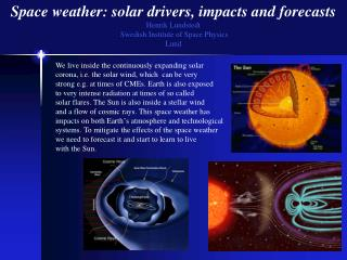 Space weather: solar drivers, impacts and forecasts Henrik Lundstedt