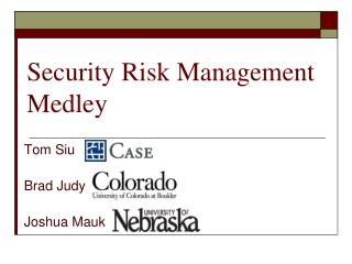 Security Risk Management Medley