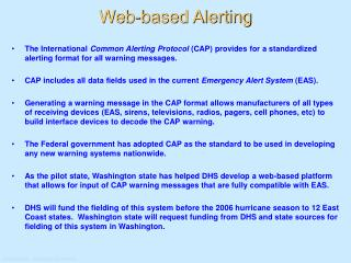 Web-based Alerting