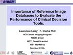 Importance of Reference Image Databases to Evaluate the Performance of Clinical Decision Tools.