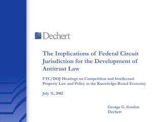 The Implications of Federal Circuit Jurisdiction for the Development of Antitrust Law