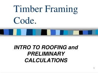 Timber Framing Code.