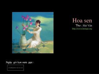 Hoa sen  Th ơ : Hải Vân hoingo