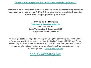 Villanova at Pennsylvania live | ncaa mens basketball | Spor