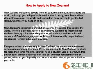 How to Apply to New Zealand