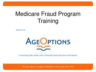 Medicare Fraud Program Training