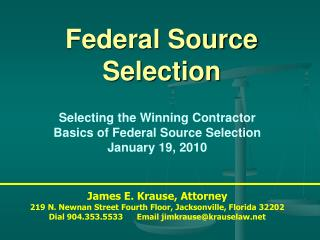 Federal Source Selection